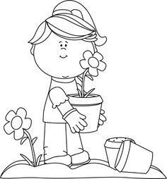 Image Result For Black And White Garden -Image result for black and white garden clipart-12
