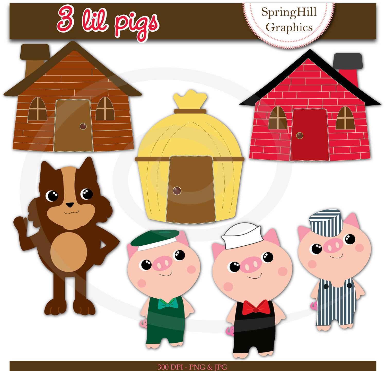 Image · Three Little Pigs . - Three Little Pigs Clip Art