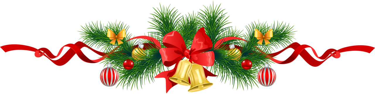 Image Transparent Christmas Pine Garland-Image Transparent Christmas Pine Garland With Gold Bells Clipart Png-6