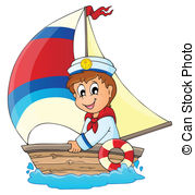 ... Image with sailor theme 3 - eps10 vector illustration.