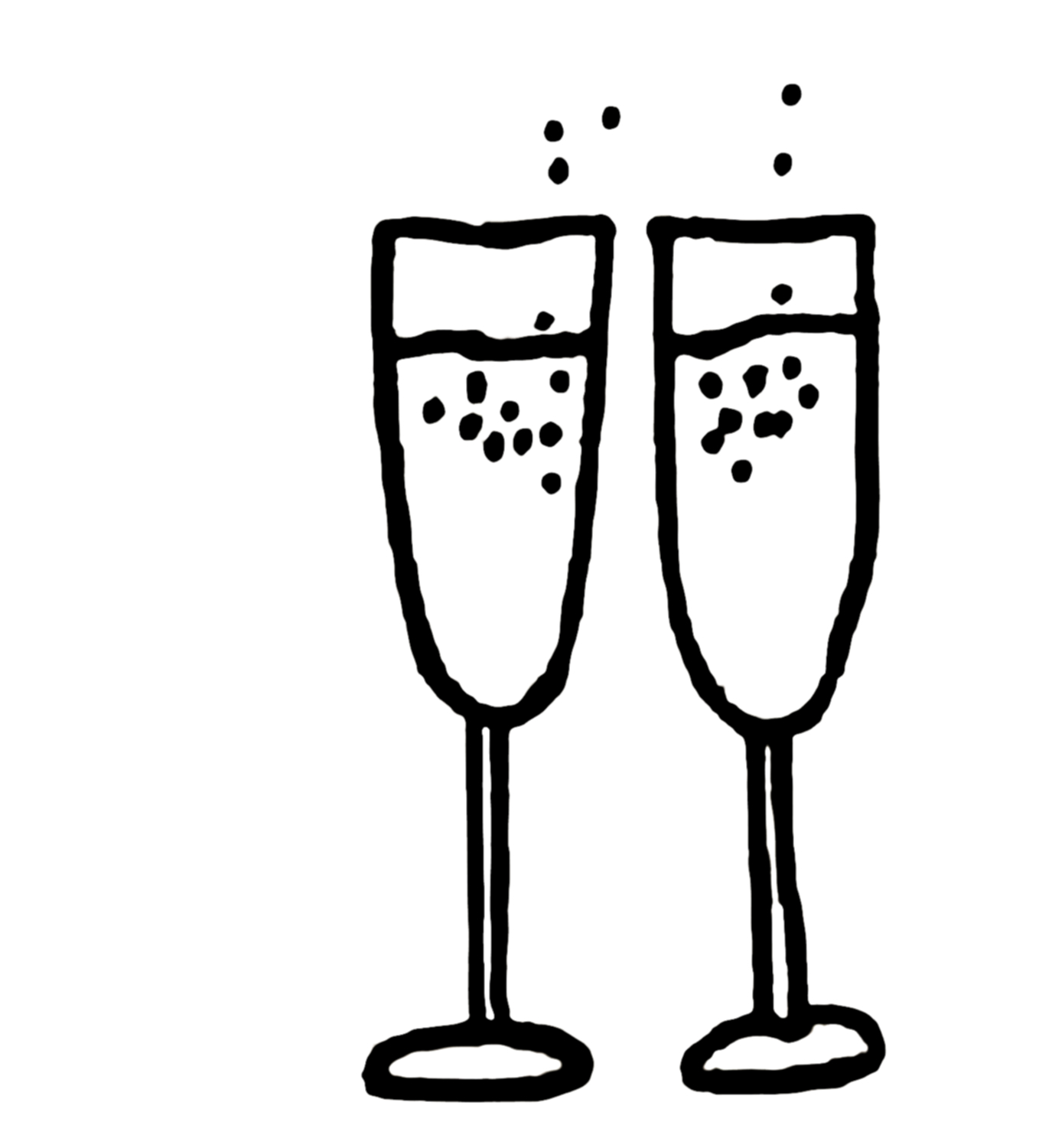 Images For Champagne Glasses Clipart