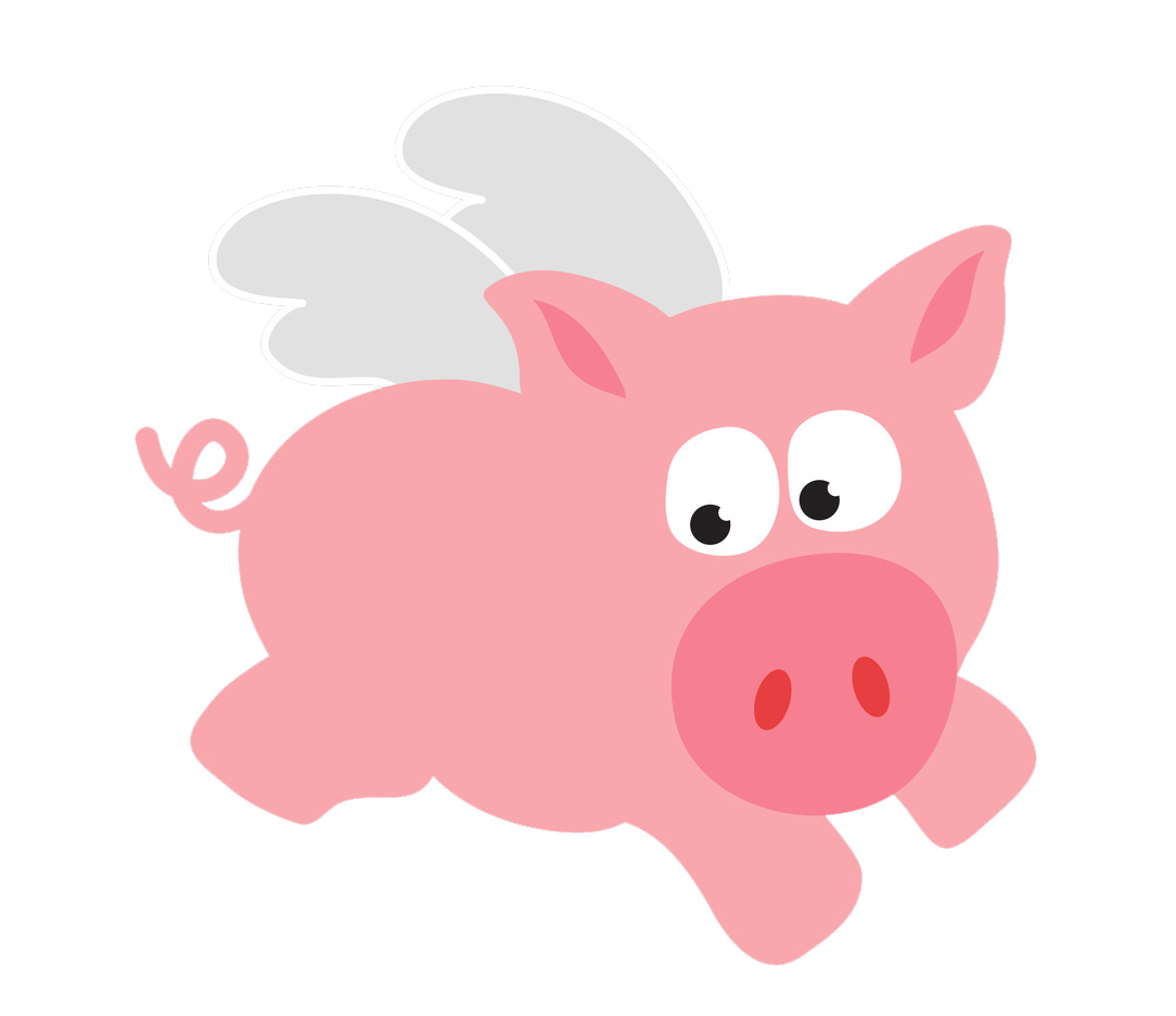 Images For Cute Flying Pig Cartoon