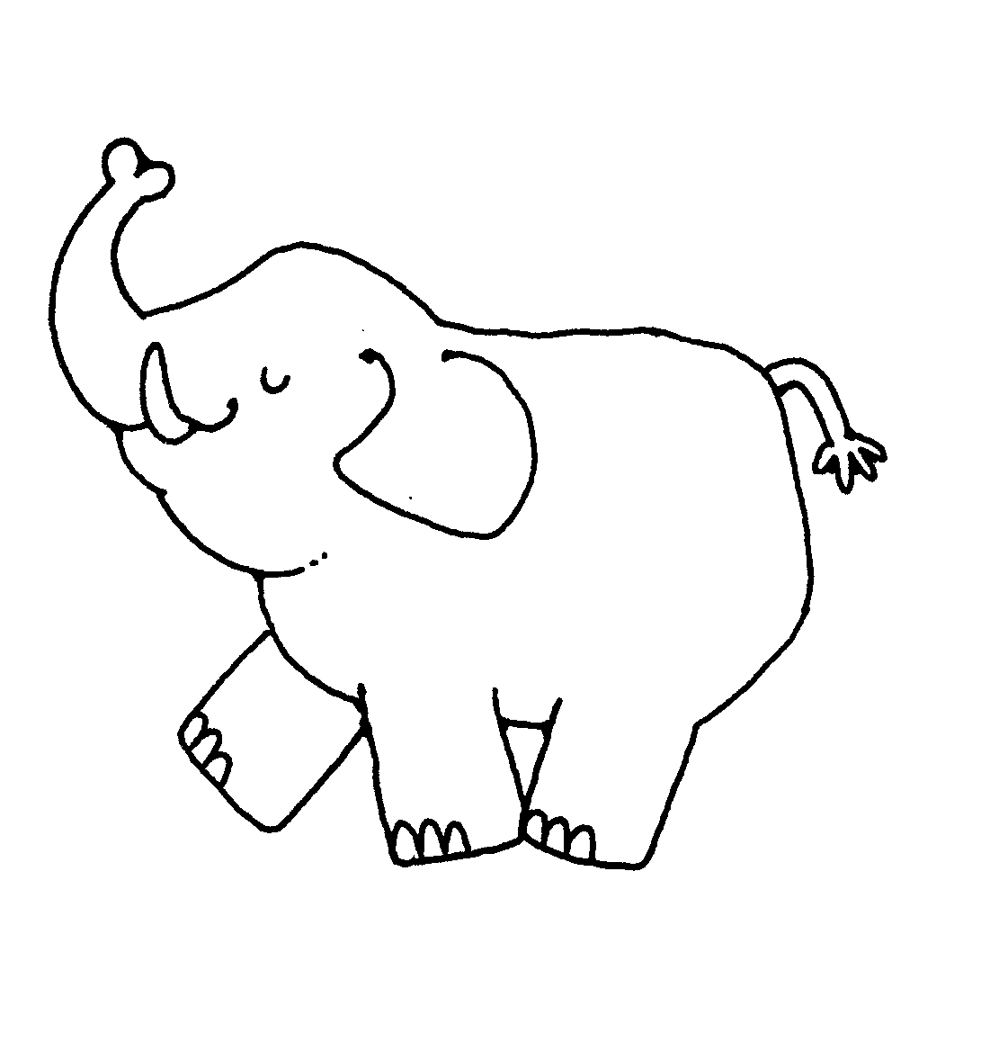 Images For u0026gt; Black And - White Elephant Clip Art