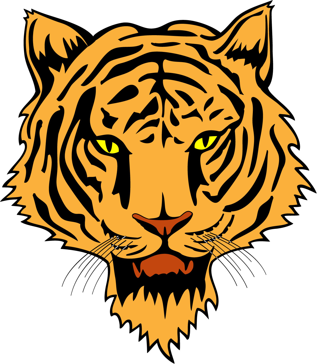 Images For Tiger Face Clip Art Color
