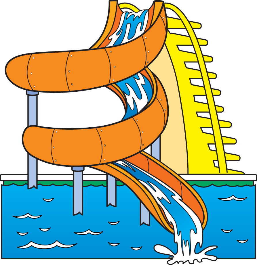 Images For Water Slides Clip  - Water Park Clipart