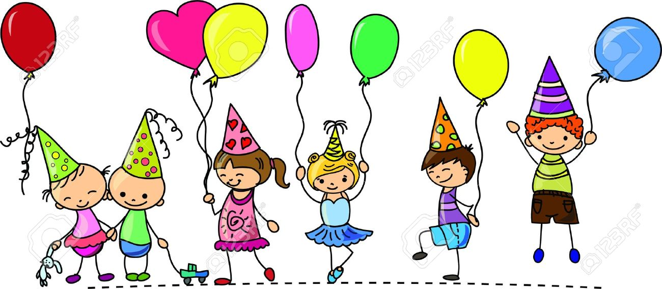Images kids at a birthday party clipart u2013 ClipartFest