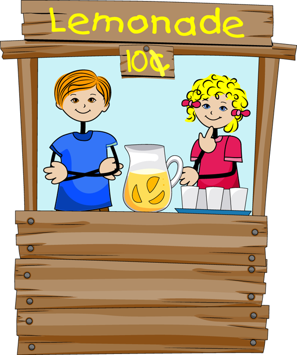 Images Kids Lemonade Stand Operated Children Clipart Clip Art Stand
