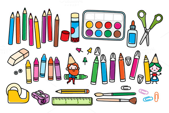 Images of arts and crafts supplies t and craft clipart