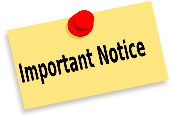 Important Notice Clip Art At  - Important Clip Art