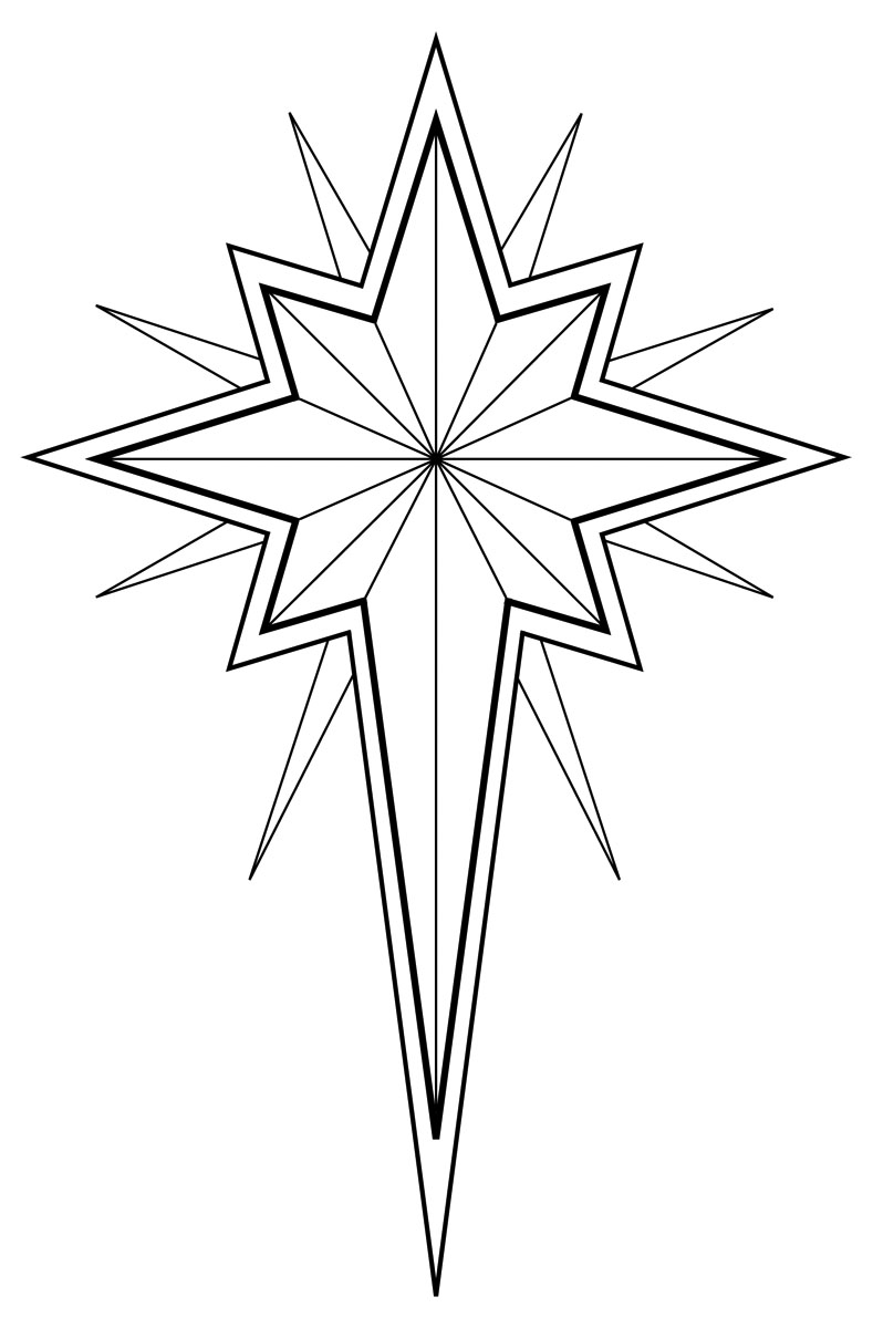 In Black And White Use This Illustration-In Black And White Use This Illustration Of A Christmas Star Or Star-11