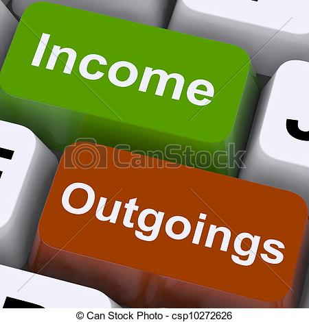 ... Income Outgoings Keys Show Budgeting And Bookkeeping -.