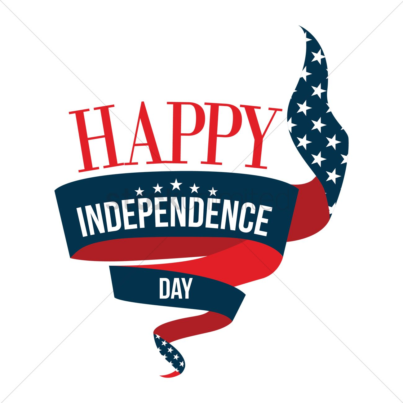 happy independence day 4th of july banner vector graphic