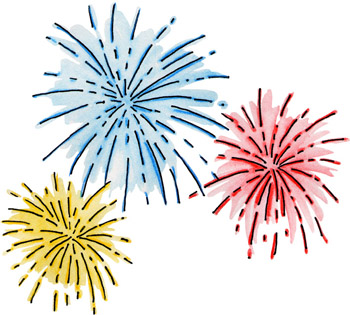 Independence Day Fireworks Clip Art-Independence Day Fireworks Clip Art-17