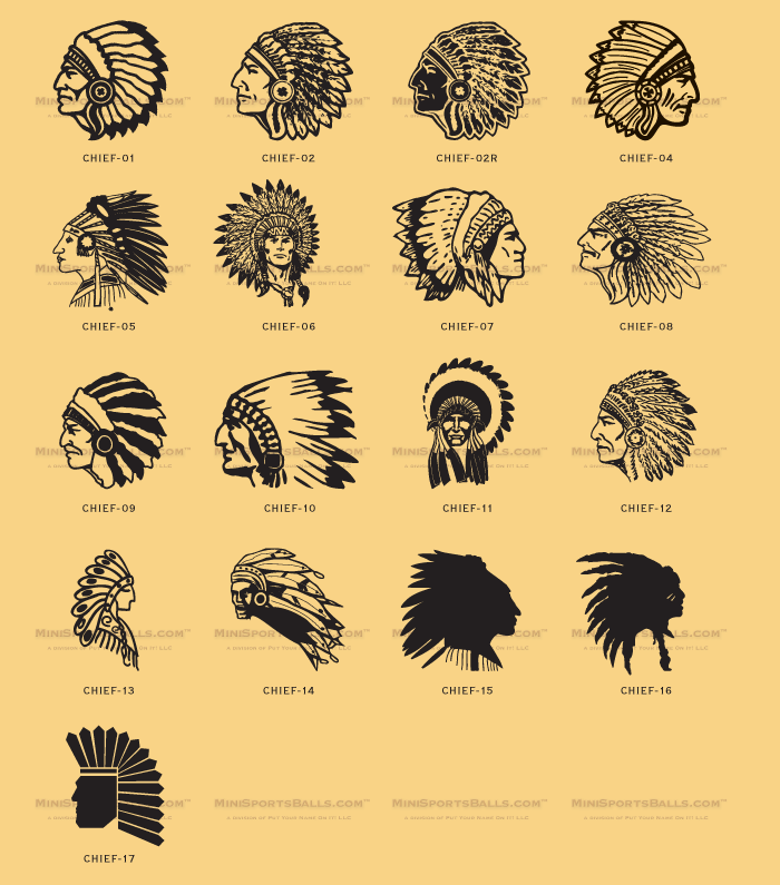 Indian Chief Clip-Art (Heads) - MiniSpor-Indian Chief Clip-Art (Heads) - MiniSportsBalls clipartall.com-19