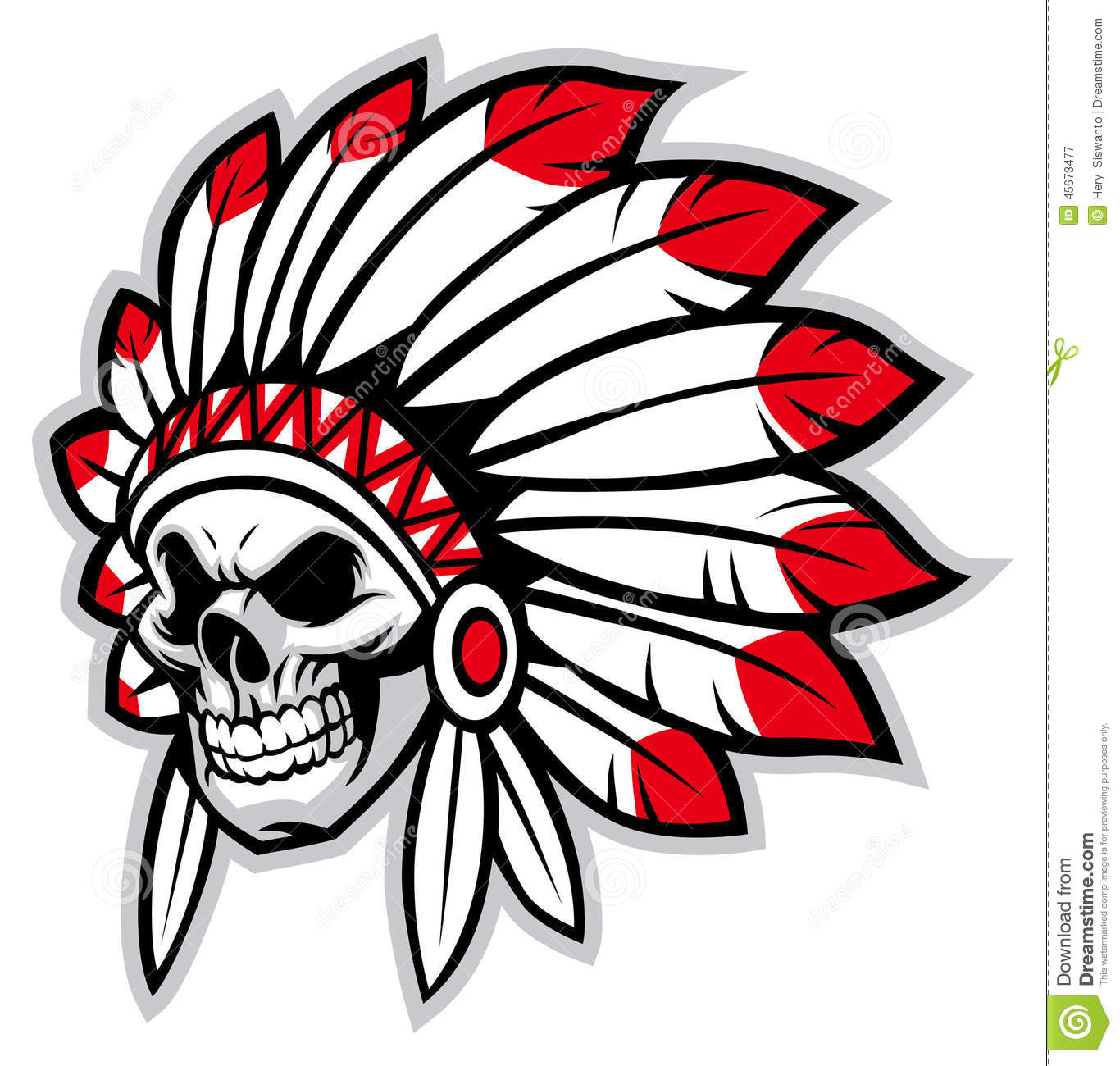 Indian Chief Head Clip Art ..