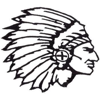 Indian Chief Head Outline-Indian Chief Head Outline-12
