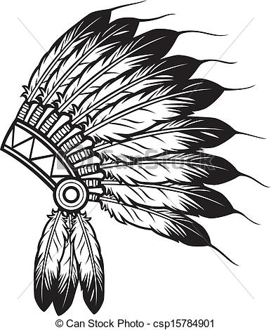 ... indian chief headdress - native american indian chief... ...