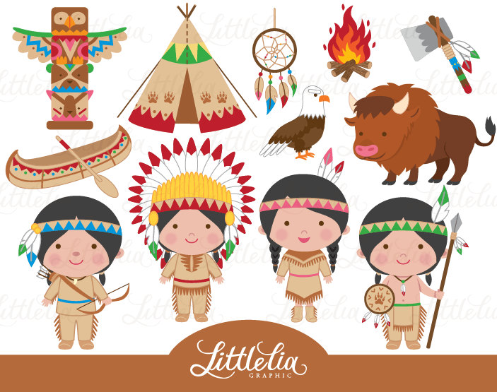 Indian clipart - native america clipart -Indian clipart - native america clipart - cowboy clipart - 15029-16