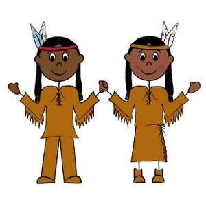 Indian girl and boy clipart
