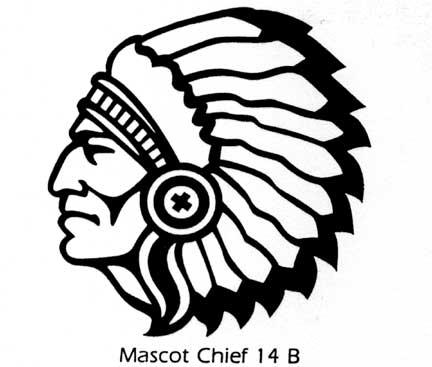 Indian Head Mascot Mascot Clipart-Indian Head Mascot Mascot Clipart-1