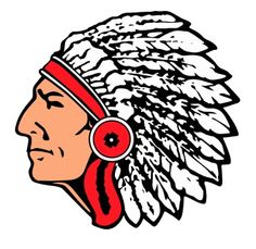 Indian Logo Clipart; Indian head mascot clipart .