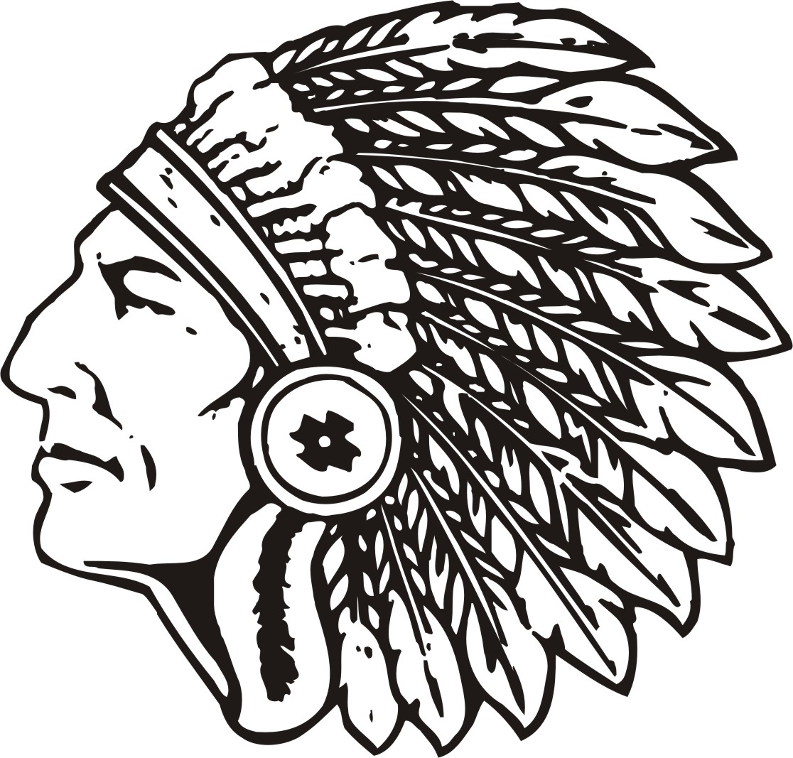 Indians Football Logo Girls Nickname Lady Indians