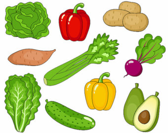 ... Individual fruits and vegetables clipart ...