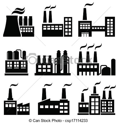 ... Industrial buildings, factories, power plants ...