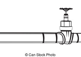 ... Industrial pipeline and Gas valve. Vector illustration.