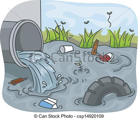 ... Industrial Waste Water Pollution - Illustration of.