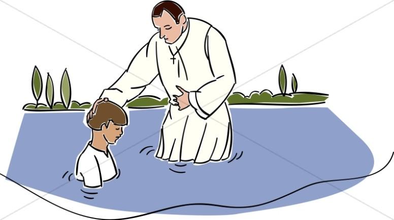 Infant Baptism Clipart u0026middot; Baptism in the River