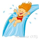 inflatable water slide clipart
