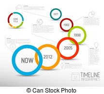 ... Infographic light timeline report te-... Infographic light timeline report template with circles -.-9