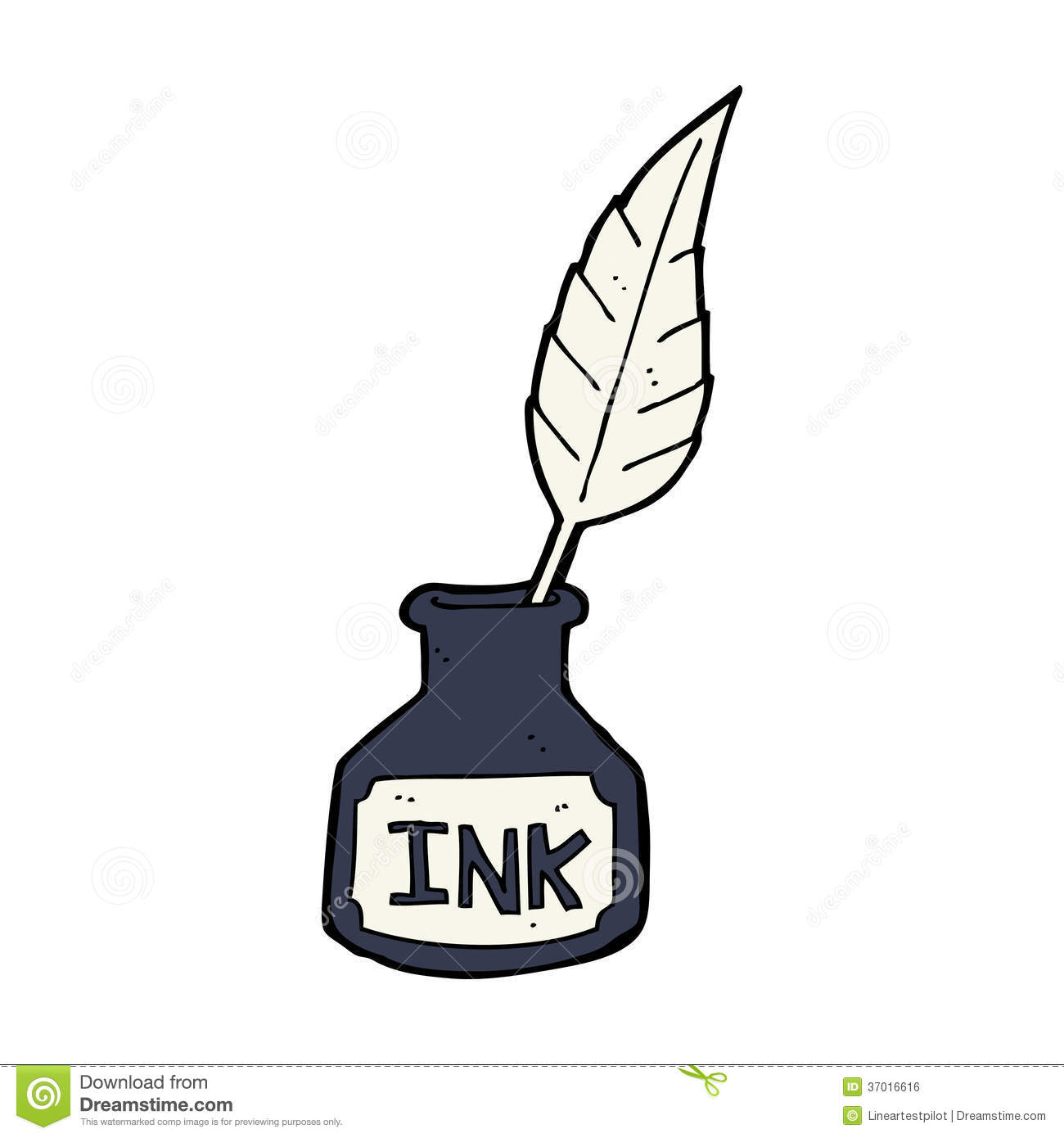 Ink Clipart Cartoon Ink Bottle Royalty