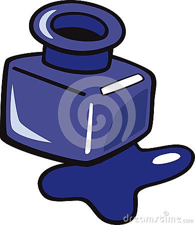 Ink Clipart Ink Clip Art Cartoon Illustr-Ink Clipart Ink Clip Art Cartoon Illustration Blue Bottle 32871207 Jpg-0