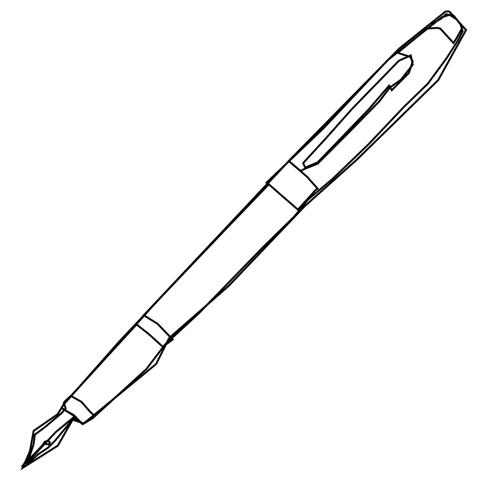 Ink pen clip art pen image