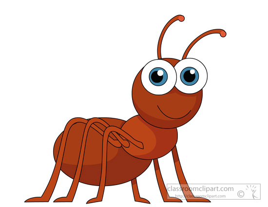 Insect Clipart Ant Character Insects 917 Classroom Clipart