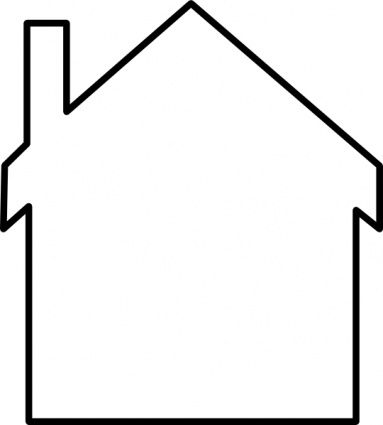 inside house clipart black and white