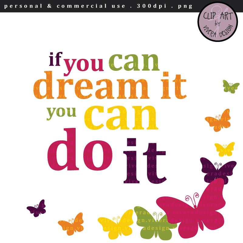 Inspirational Clip Art Digital Clipart I-Inspirational Clip Art Digital Clipart If You Can-14