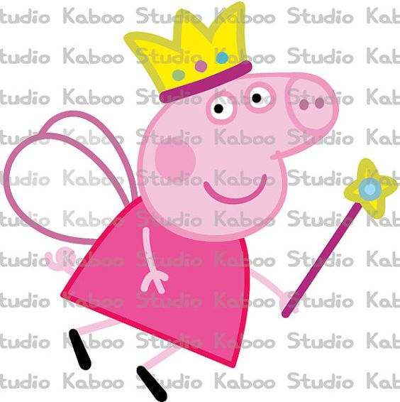 Inst. Download - Flying Princess Peppa Pig Clipart on Etsy, $2.80