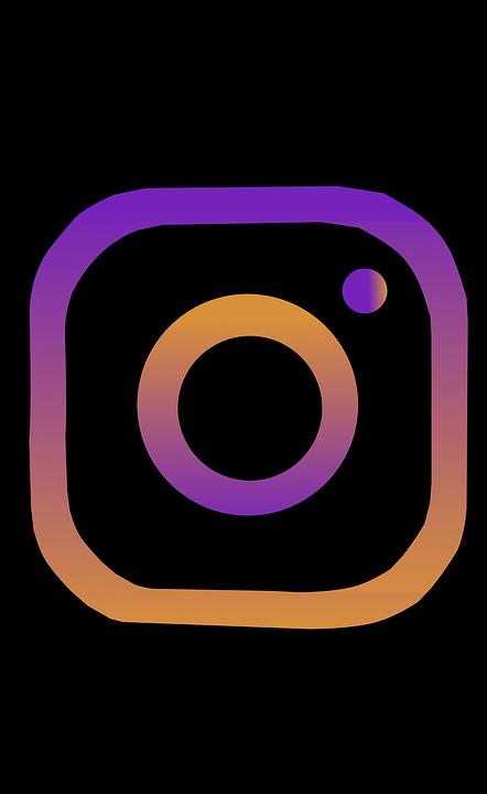 instagram insta icon clipart vector sticker