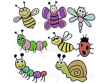 Instant Digital Download Inse - Insects Clipart