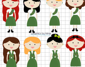 INSTANT DOWLOAD Girl Scouts Clipart Scra-INSTANT DOWLOAD Girl Scouts Clipart Scrapbook for Personal and Commercial Use-13