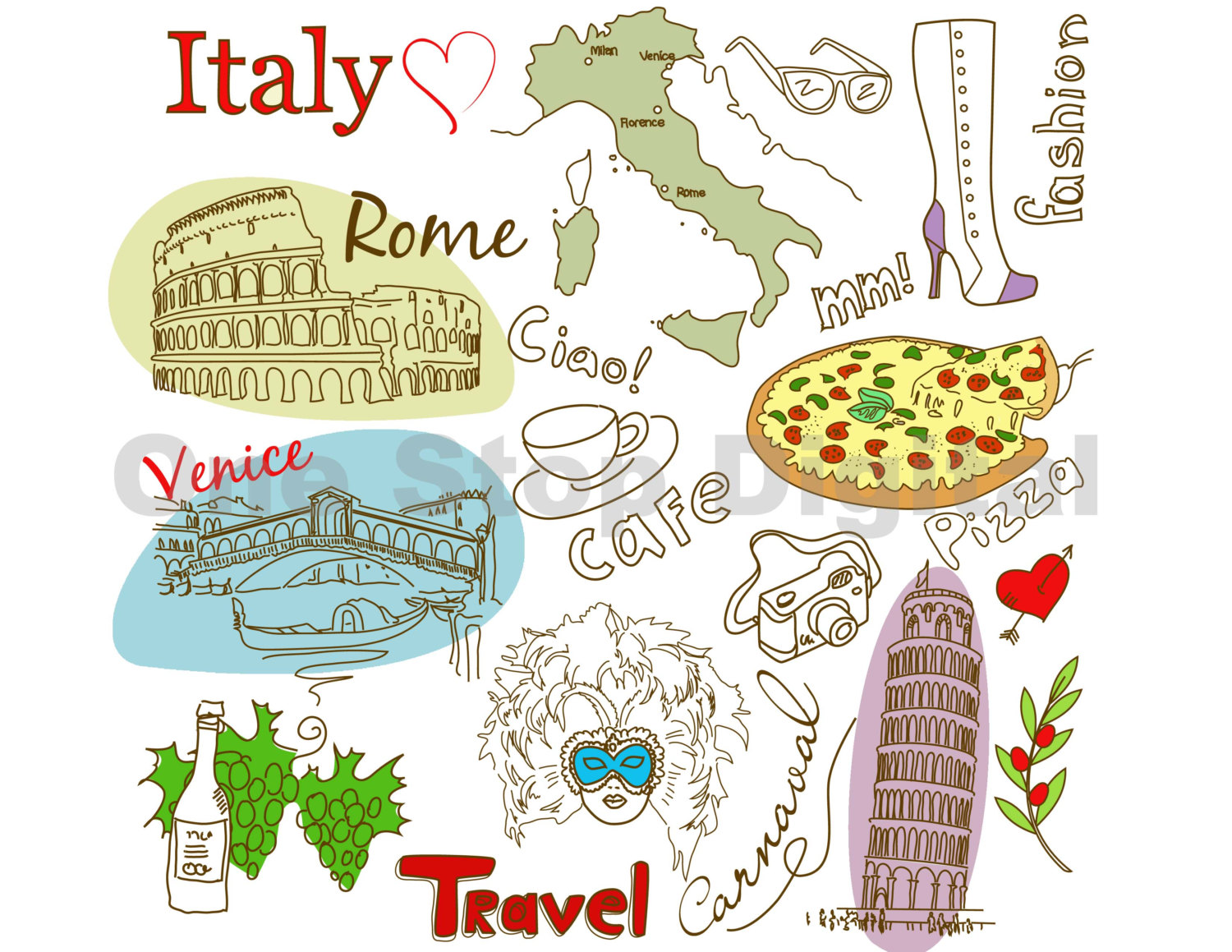 Instant Download Italy Clip-Instant Download Italy Clip-4