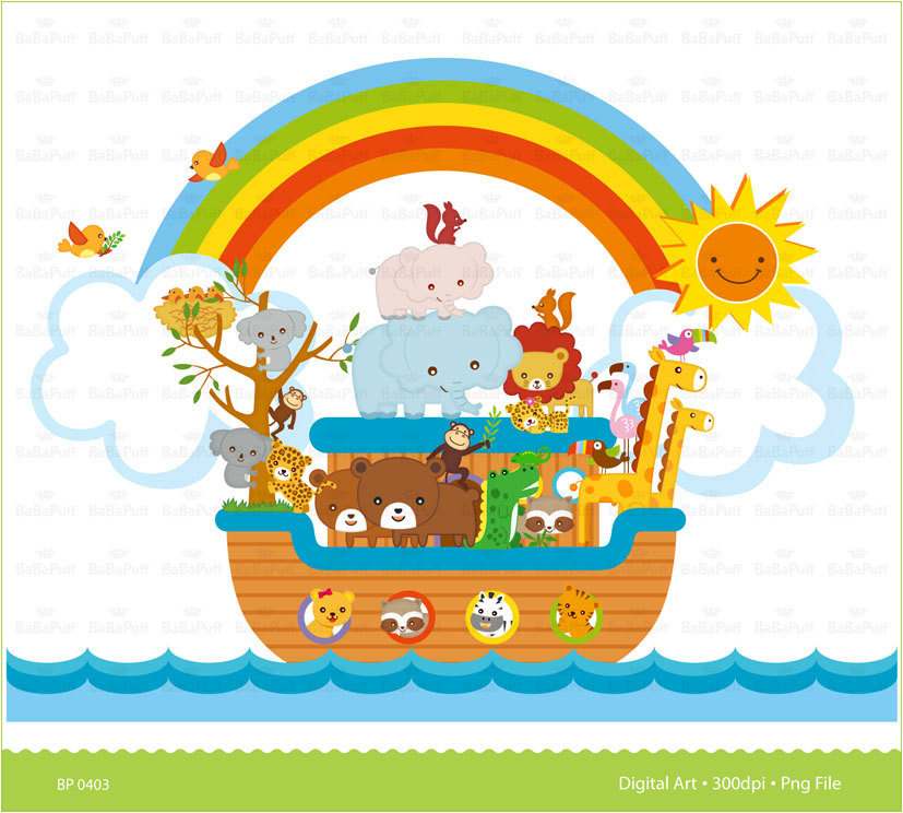 Instant Downloads, Digital Noahu0026#39;s Ark Scene Clip Art. For Your Handmade Crafts Projects. Personal and Small Commercial Use. BP 0403
