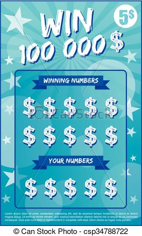 instant lottery ticket scratch off vector illustration no shadow on the vector and lorem ipsum is use as tempory text