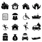 Insurance Company Logo; Insurance icon set