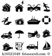 Insurance icon set - Insurance Clip Art