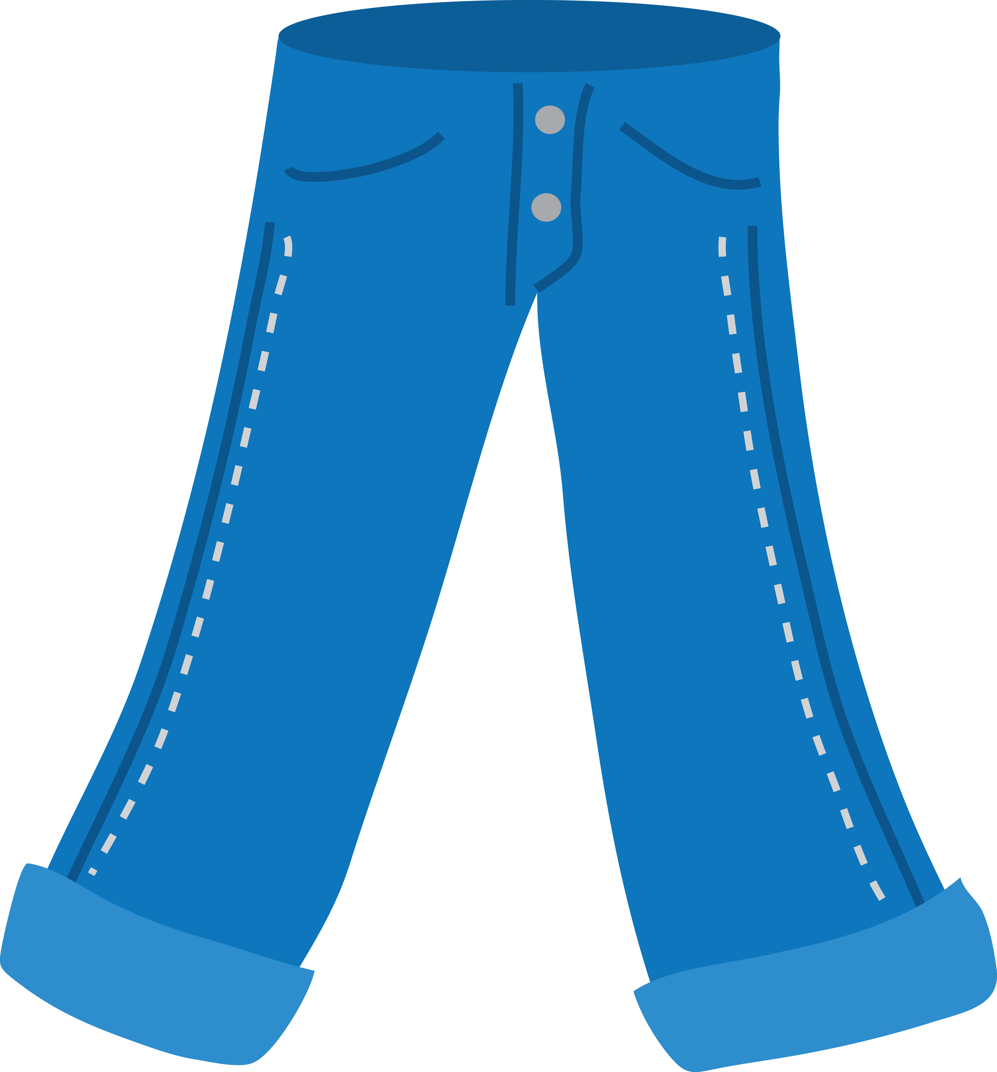 Inventive Denim Blue Jean Clip Art
