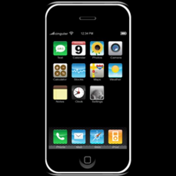 Iphone Cell Phone Clipart-iphone cell phone clipart-10